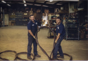 Bob Sample & Tony Baker Fabricating a Multi-part Wire Rope Sling